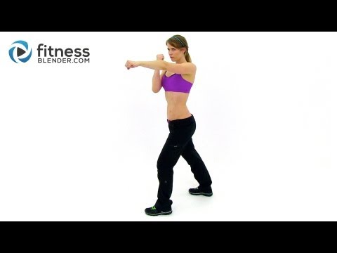 Fast Fat Burning Workout Cardio Kickboxing HIIT Routine with Fitness Blender