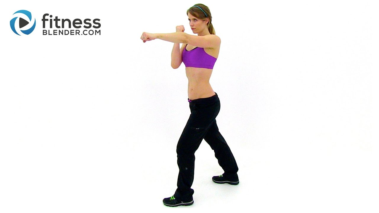Fast Fat Burning Workout - Cardio Kickboxing HIIT Routine ...
