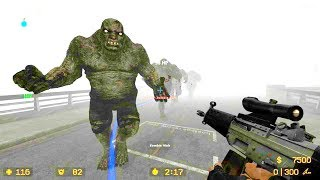 Counter Strike Source - Zombie Horde Mod online gameplay on Silent Hill 2 map