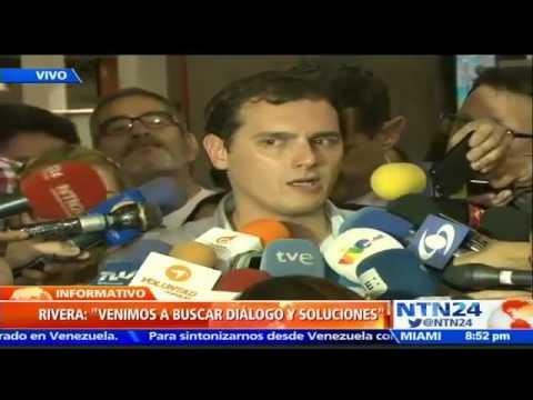 Arriba a Venezuela el dirigente español Albert Rivera para sostener apretada agenda con la oposición