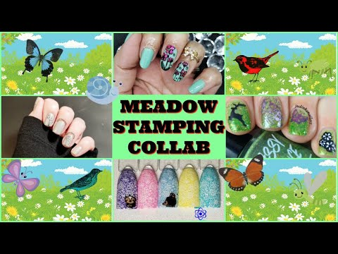 Meadow Stamping Nail Art Tutorial | Facebook Group Collab ✓ thumbnail