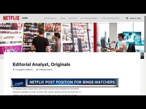 Netflix is hiring people to binge watch