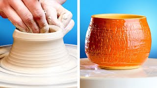 Amazing Clay Pottery Tricks For Beginners And Pros || DIY Beautiful Clay Creations For Your Home!