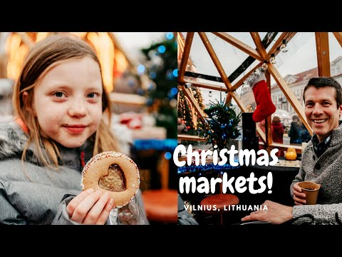 Vilnius Christmas markets / Hot chocolate and gingerbread/ Lithuania