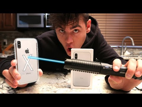 Download Youtube: iPhone X VS MOST POWERFUL LASER!