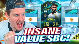 INSANE VALUE SBC! 91 PLAYER MOMENTS DYBALA PLAYER REVIEW! FIFA 21 Ultimate Team