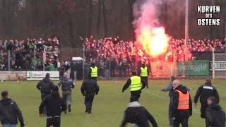 BSG Stahl Riesa 0:1 BSG Chemie Leipzig 07.12.2014 | Pyro & Support