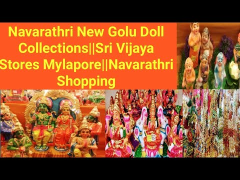 Navarathri celebration New Golu Doll Collections||Sri Vijaya Stores Mylapore Navarathri Shopping