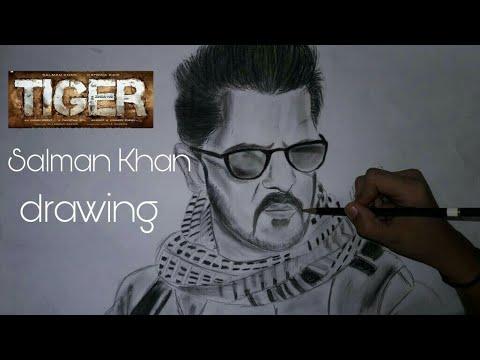 Tiger Zinda Hai Drawing||how To Draw Salman Khan - YouTube