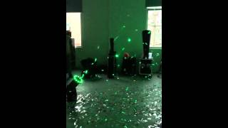confetti machine with LED lamps