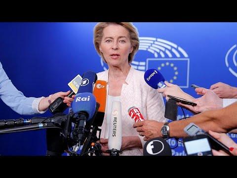 Ursula von der Leyen makes rounds through political groups, tries to gain support