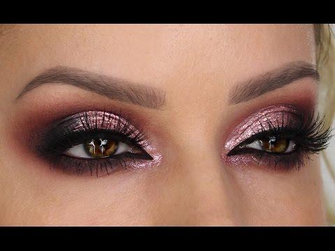 Pearl-Rose Chrome Finish Cut Crease Smokey Eye   Shonagh Scott   ShowMe MakeUp