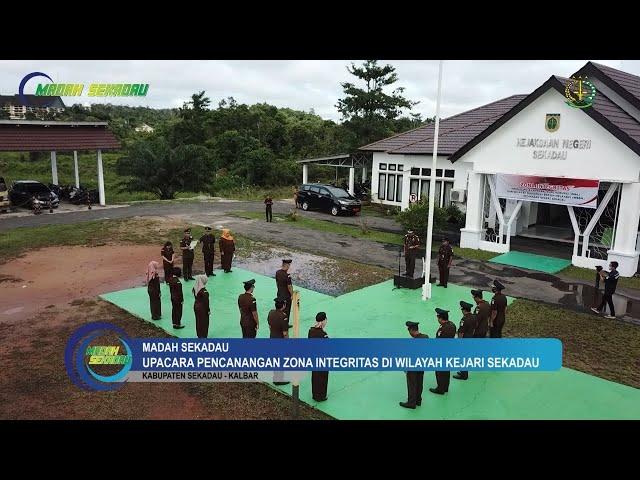 Upacara Pencanangan Zona Integritas di Wilayah Kejari Sekadau Tahun 2020
