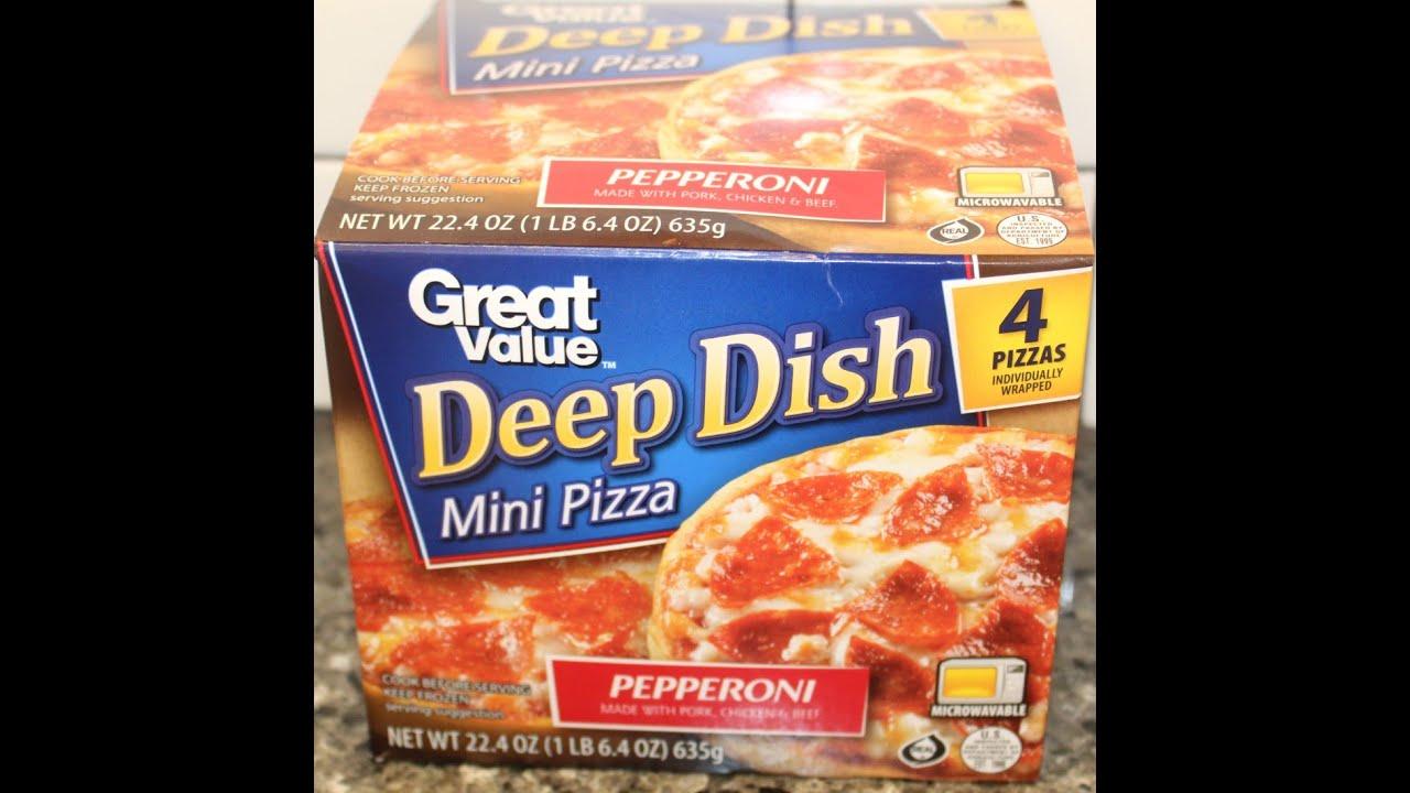 great value walmart deep dish mini pizza pepperoni review