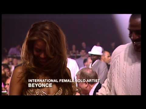 Beyonce wins International Female presented by LL Cool J | BRIT Awards 2004