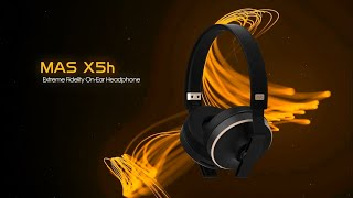 MAS X5h Professional Studio Monitor On-Ear Headphone