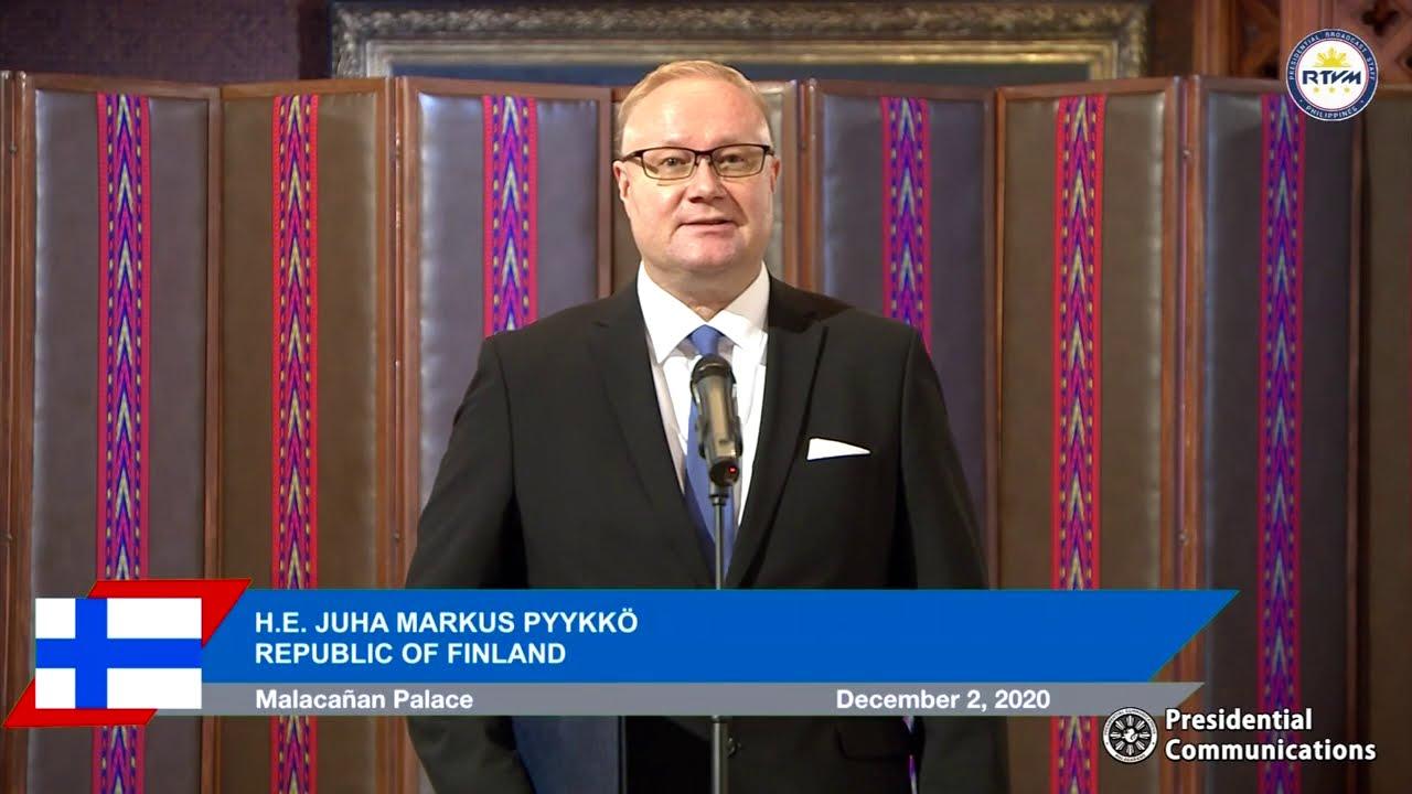 Virtual Presentation of Credentials of the Ambassador of Finland 12/2/2020