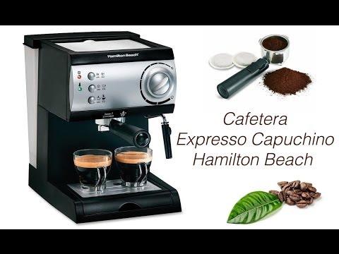 Uso De Cafetera Expresso Capuchino Hamilton Beach