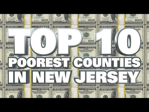 10 Poorest Counties in New Jersey 2014
