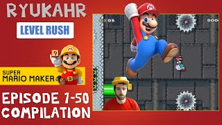 Level Reaction Compilation!   Super Mario Maker   Episodes 1-50 Highlights!