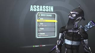 Borderlands 2 - Zer0 the Assassin's Cl0ckw0rk Pack (Aer0dynamic Head and Like Cl0ckw0rk Skin)