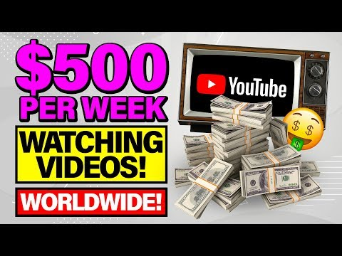 🔥Get Paid $500 Per Week Watching Videos! Make Money Online 2020 For Beginners! (WORLDWIDE!)