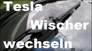 Tesla Model S Scheibenwischer selber wechseln günstiger !