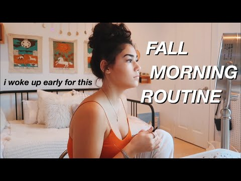 fall school morning routine ✰