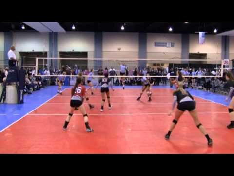 Madeline Fowler 2 OH_2013 Monument Volleyball_NVVA ICE 17's vs Triangle Blue 17's_ Part 1