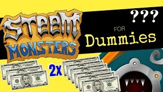 How to DOUBLE your money EVERY 2 weeks with Steem Monsters | Steem Monsters for Dummies