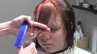 Как подстричь чёлку легко, просто и быстро!