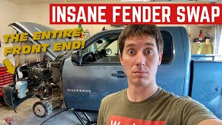 This Insane FENDER Is The ENTIRE SIDE Of The Chevy SILVERADO *$800 Fix*