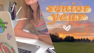 first day of senior year vlog | online school day in my life
