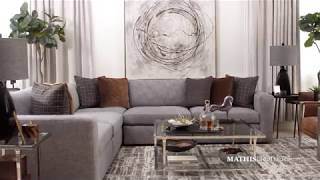 Bernhardt Five-Piece Casual Sectional in Gray