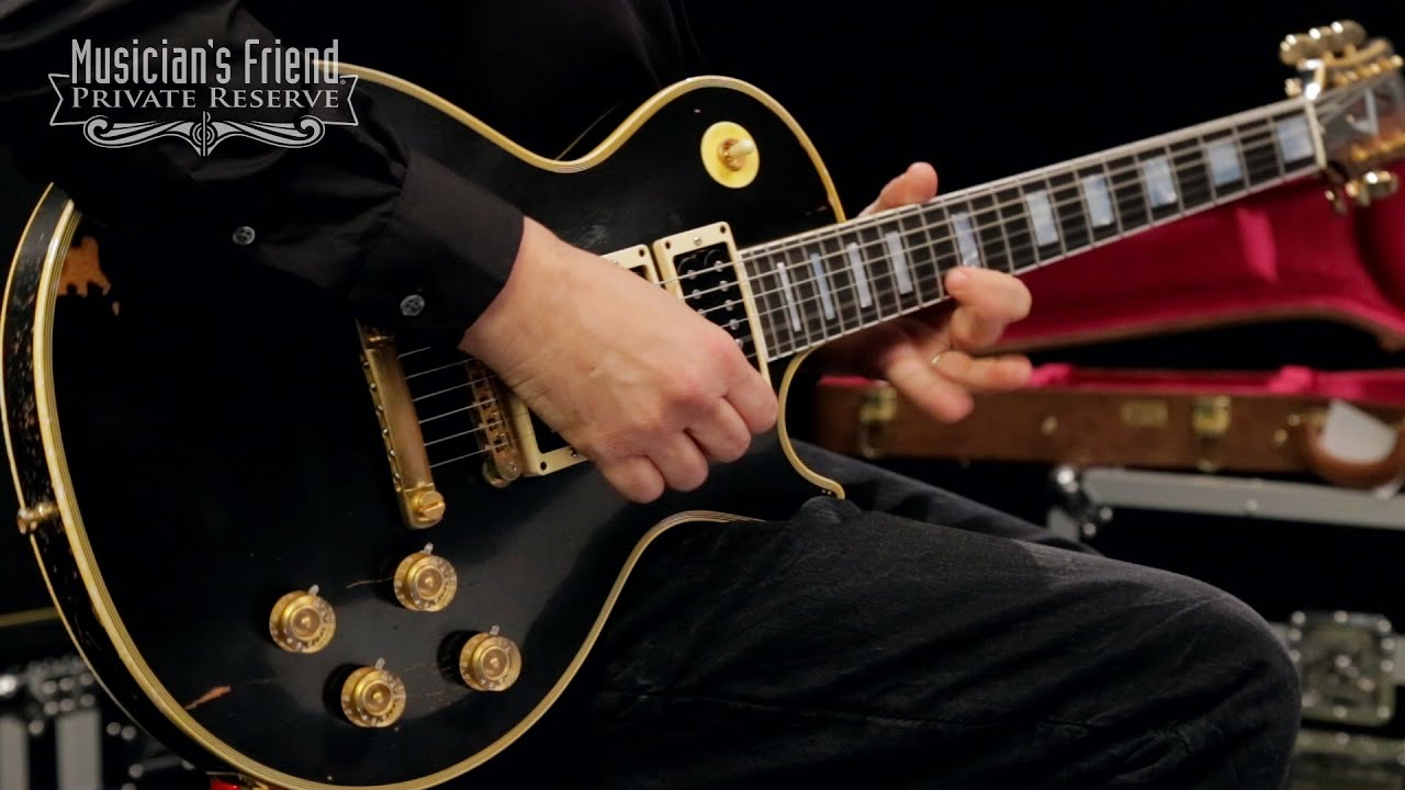 hight resolution of gibson custom peter frampton 1954 les paul custom electric guitar murphy heavy aged