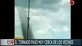 Santa Fe: Tornado pasó muy cerca de los vecinos