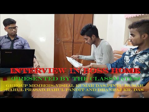 Interview for job in boss home