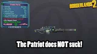Borderlands 2: The Patriot does NOT suck!