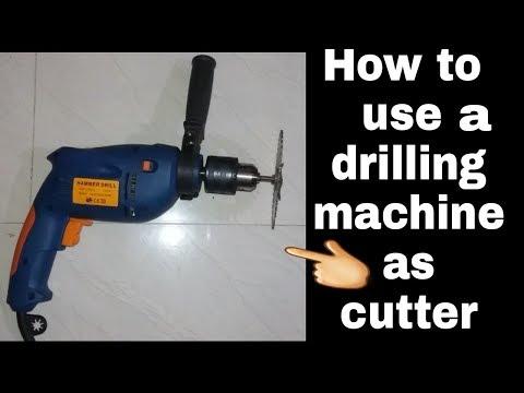 How use drilling  machine as cutter machine(wood cutting,metal cutting, metal grinding, metal polish