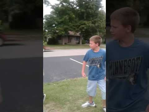 Women threats to call police on kids for fighting!!