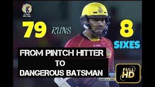 Sunil Narine Hard Hitting 79 runs With 7 Sixes vs Barbados Tridents in CPL 2017  - TKR VS BT