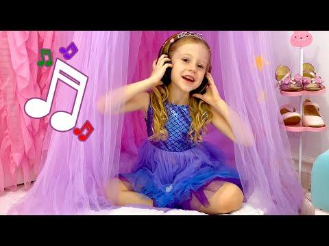 Nastya sings her