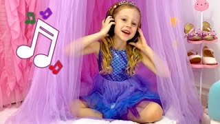 Nastya sings her favorite kid's songs