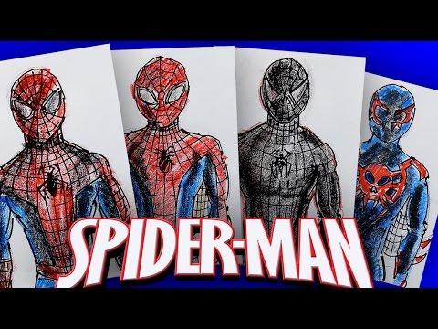 История костюма Человека Паука / Рисуем костюмы Spiderman