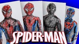История костюма Человека Паука / Рисуем костюмы Spiderman(С Данило Мастером мы рисовали марафон по Человеку Пауку. Но пока он мне не дал свои рисунки, я могу вам показ..., 2016-10-14T14:00:04.000Z)
