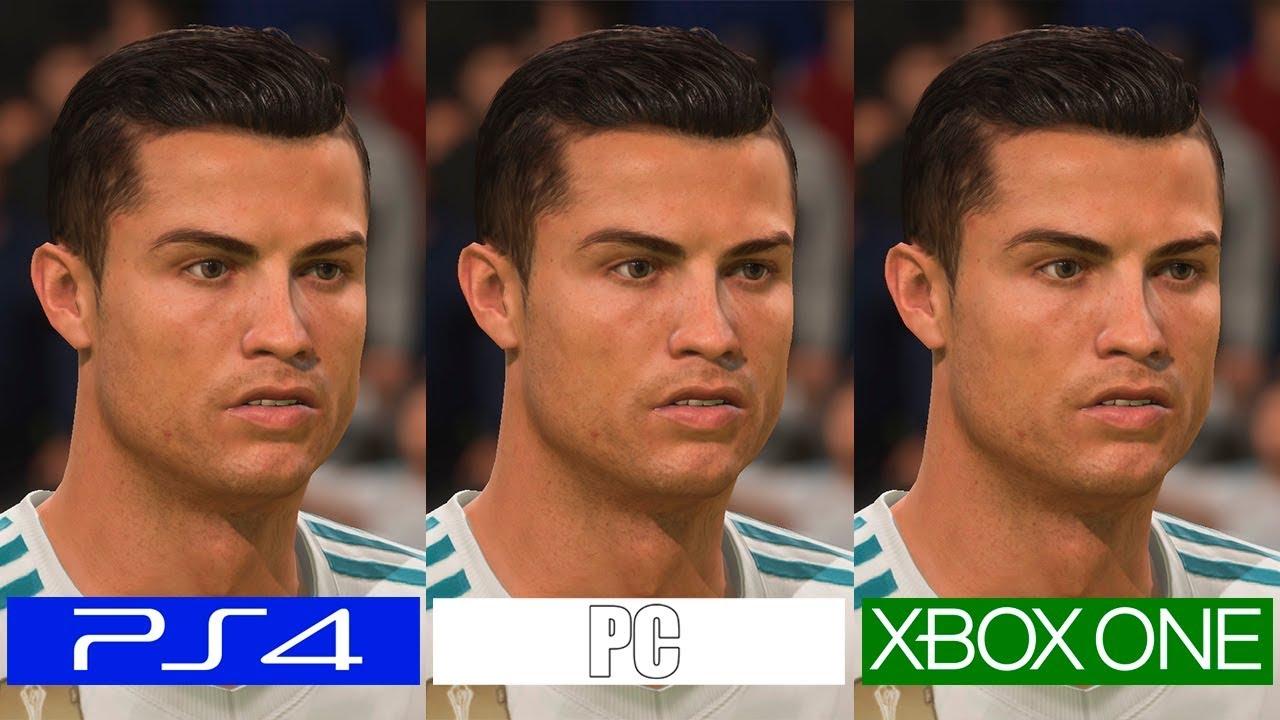 Fifa 18 PS4 VS ONE VS PC Graphics Comparison