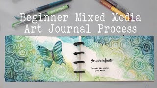 BEGINNERS ART JOURNAL PROCESS- How to start an art journal page?- Mixed Media  Art Journaling