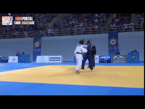 European Judo Championships Cadets Athens 2014 Bronze -52kg STARKE Pauline (GER) - BOUDOUAIA (FRA)