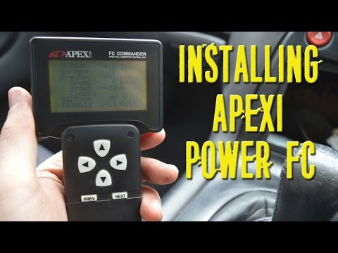 RX-7 FD - Part 24 - How To Install Apexi Power FC and a Test Drive