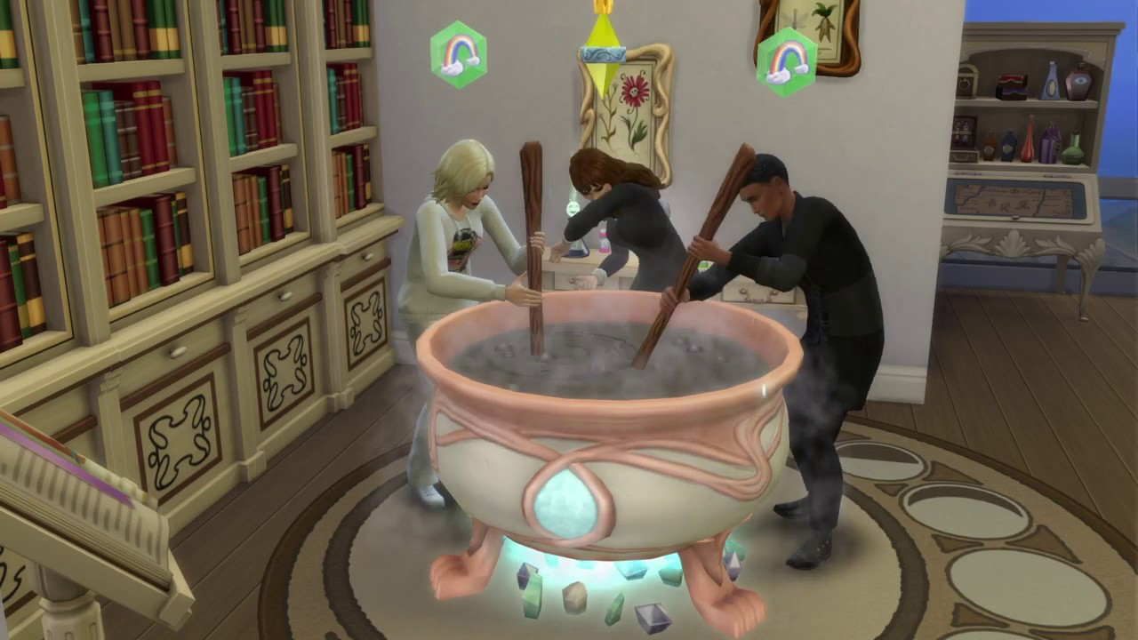 Sims 4 making a potion - YouTube